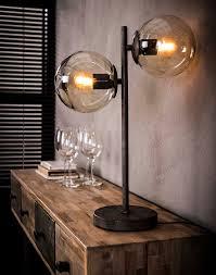 Tafellamp Kemal 2 Lamps Met Glazen Bollen