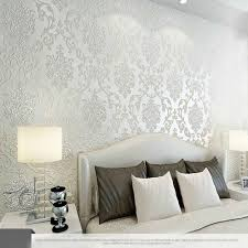 Wallpaper For Living Room Feature Wall 10m Many Colors Luxury Embossed Textured Wallpaper Non Woven Decal