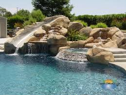 custom inground pool designs. Wonderful Designs Quality Custom Swimming Pool Design With Natural Water Slide And Fountain  Including Jacuzzi Stones Inground Designs P