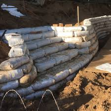 earthbag building bluebird hill homestead cellular confinement wall protection geocells retaining