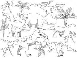 Dinosaurus Kleurplaat Boek Vector Voor Volwassenen Stockvector