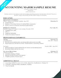 Accounting Student Resume Impressive Resume For Internship Accounting