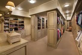 Traditional Closet with 3 Light Ceiling Flush Mount, Luxury Wood Custom  Closets, Crystorama 642