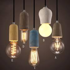 exposed bulb lighting. rustic concrete exposed edison bulb mini pendant light fixture lights ceiling lighting