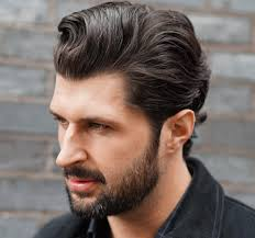 Slicked Back Hair Style mens hairstyles long back fade haircut 5216 by wearticles.com