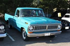 My dad's old seafoam green Ford truck.   Things We Used to Have