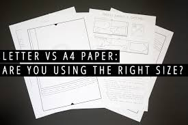 A4 Paper Size Letter Vs A4 Paper Are You Using The Right Size