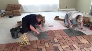 brick floor installation guide using