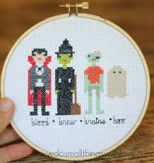 Easy Cross Stitch Patterns Amazing Halloween Character Counted Cross Stitch Pattern Do Small Things