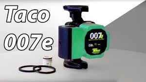 Taco Pump Flow Chart A Closer Look At The Taco 007e High Efficiency Circulator Pump