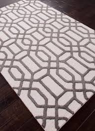 wellsuited white and brown rug intertwined geometric off scenario home