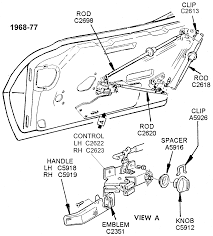Door parts diagram best of 1968 77 internal door ponents diagram view chicago corvette