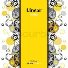 Black And Yellow Stripes Border Abstract Geometric Background Stock Vector Colourbox