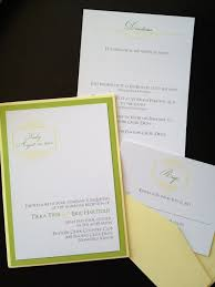 invitations yellow lime pocket
