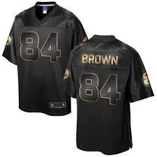 Antonio Antonio Brown Gold Jersey Brown Gold