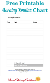 Morning Routine Printable Chart Free Printable Morning Routine Chart Plus How To Use It
