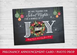 Pregnancy Announcement Christmas Card Christmas Pregnancy
