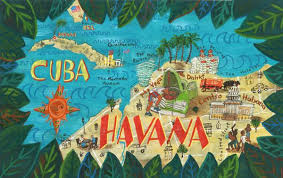 """Janna Morton -Havana, Cuba. A map highlighting places of interest in the  article """"The End of"""