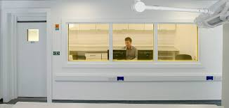 wolfson institute hammersmith hospital london we installed a 22mm lead observation window pictured