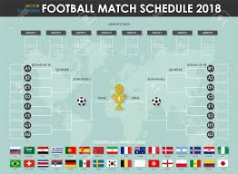 Football League Table Wall Chart Football Or Soccer Cup Match Schedule And Wall Chart Vector