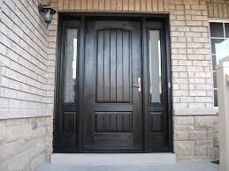 windows and doors toronto fiberglass doors front entry doors modern doors woodgrain door solid rustic door with 2 side lites installed in vaughan