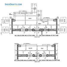 24x36 a frame cabin shed plans blueprints 09 half wall framing