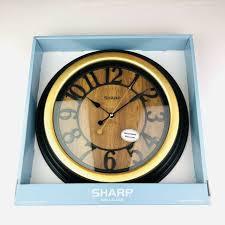 modern square black glass wall clock