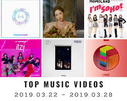 Top Charts Music Videos Youtube Top Music Videos On Youtube Korea 13th Week 2019