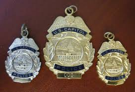 u s capitol police mini badge neck charms