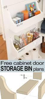 Behind the door DIY storage bins - plans & instructions   Share ...