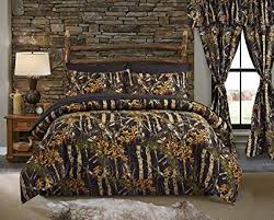 Amazon.com: Regal Comfort The Woods Black Camouflage King 4 Piece ...