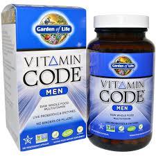 garden of life vitamin code men 120 vegetarian capsules