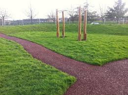 outdoor play area mulch pathway