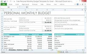 Budget Layout Example Personal Financial Plan Template Excel Skincense Co
