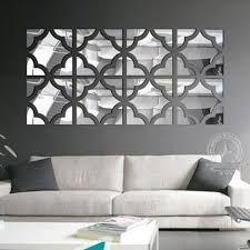medium size of wall decor funlife 20pcs flower square loop 3d acrylic mirror wall stickers
