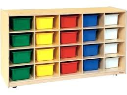cubby storage bins plastic mobile w colored
