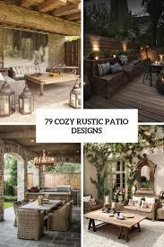 cozy rustic patio designs cover