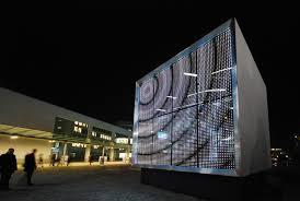 building facade lighting. Powerglass® Media Façade: Cube By Peter Platz Spezialglas | Facade Cladding Building Lighting