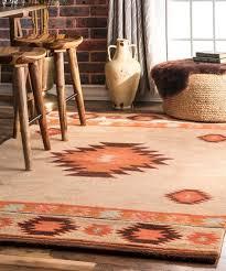 beige medallion shyla wool rug rug pad
