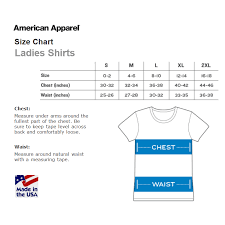 American Apparel Size Charts Hypercandy
