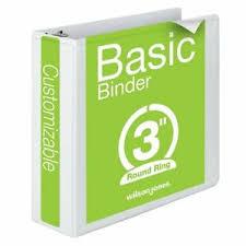 3in 3 Ring Binder Details About Wilson Jones 3 Inch 3 Ring Binder Basic Round Ring View Binder White W362 4
