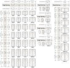 Andersen Fixed Window Size Chart Standard Window Sizes Guide For 2019