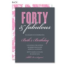 40th Birthday Invitations Forty Fabulous 40th Birthday By Noteworthy Collections Invitation Box