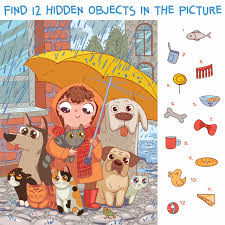 Hidden objects in puzzle pictures: Hidden Object Puzzle Prime