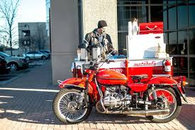 this coffee shop in a motorcycle sidecar could be the ultimate