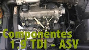 Componentes motor 1.9 TDI - ASV - YouTube