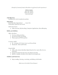 Resume For No Experience Examples Of Resumes With No Job Experience