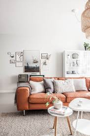Best  Orange Sofa Ideas On Pinterest - Leather furniture ideas for living rooms