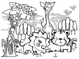 Small Picture coloring pages rainforest scene and animals coloring pages of