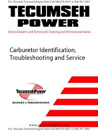 Tecumseh Carburetor Troubleshooting and Identification Guide ...